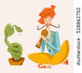 Indian Snake Charmer. Vector...