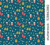 cute christmas seamless pattern.... | Shutterstock .eps vector #528862882
