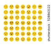set of emoticons. big... | Shutterstock .eps vector #528863122