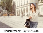 happy young woman with a...   Shutterstock . vector #528878938