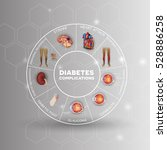 diabetes affected areas info... | Shutterstock .eps vector #528886258