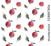 pomegranate pattern | Shutterstock . vector #528887806