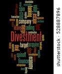 divestment  word cloud concept... | Shutterstock . vector #528887896