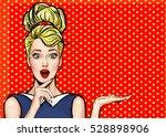 pop art girl. party invitation. ... | Shutterstock . vector #528898906