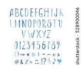 watercolor font   Shutterstock . vector #528900046