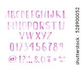 watercolor font   Shutterstock . vector #528900052