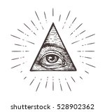 all seeing eye symbol. vector... | Shutterstock .eps vector #528902362