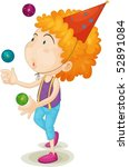 illustration of a boy showing... | Shutterstock .eps vector #52891084