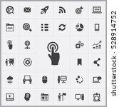 touchscreen icon. digital