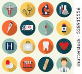 medical icons set. healthcare... | Shutterstock .eps vector #528915556