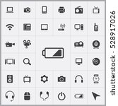 battery icon. device icons... | Shutterstock . vector #528917026
