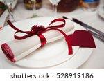 wedding banquet in a restaurant ... | Shutterstock . vector #528919186