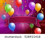 party themed card design with... | Shutterstock . vector #528921418