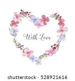 hand drawn watercolor tender... | Shutterstock . vector #528921616