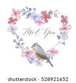 hand drawn watercolor tender... | Shutterstock . vector #528921652