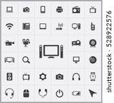 home theatre icon. device icons ... | Shutterstock . vector #528922576