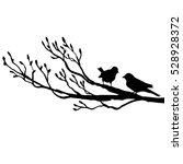Vector Silhouettes Of Birds At...