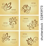 set of business cards. jpeg... | Shutterstock .eps vector #52893973