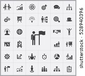 business strategy icons... | Shutterstock . vector #528940396