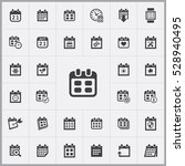 date icon. calendar icons... | Shutterstock . vector #528940495
