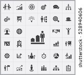 business strategy icons... | Shutterstock . vector #528940606