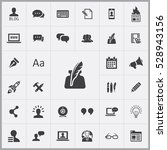 blog icons universal set for... | Shutterstock . vector #528943156