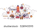 startup business concept... | Shutterstock .eps vector #528945595