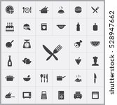 cooking icons universal set  | Shutterstock . vector #528947662