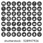 communication icons set | Shutterstock .eps vector #528947926