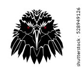black raven head | Shutterstock .eps vector #528949126