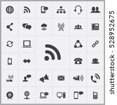 wifi icon. communication icons... | Shutterstock . vector #528952675