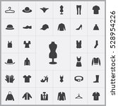 clothes icons universal set for ... | Shutterstock . vector #528954226