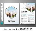 portfolio design template... | Shutterstock .eps vector #528955195