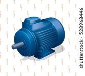 industrial electric engine...   Shutterstock .eps vector #528968446