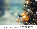 christmas tree. holiday... | Shutterstock . vector #528975196