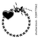 black and white silhouette... | Shutterstock .eps vector #528977062