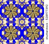 seamless vintage pattern on... | Shutterstock .eps vector #528977392