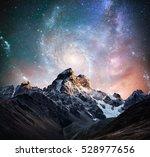fantastic starry sky. snow... | Shutterstock . vector #528977656