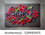 berry raspberries and... | Shutterstock . vector #528983455
