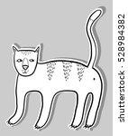 cat doodle sticker | Shutterstock .eps vector #528984382