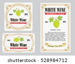 collection of white vintage... | Shutterstock .eps vector #528984712