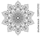 vector mandala. decor for your... | Shutterstock .eps vector #528991552