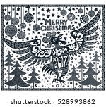 happy new year and merry... | Shutterstock .eps vector #528993862