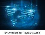 stars world map on blue... | Shutterstock . vector #528996355