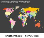 colored detailed world map ... | Shutterstock .eps vector #52900408