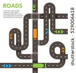 roads with a lot of cars and... | Shutterstock .eps vector #529006618
