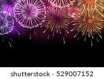 vector holiday firework | Shutterstock .eps vector #529007152