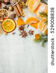 oranges  tangerines  merry... | Shutterstock . vector #529008838