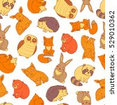 seamless doodle pattern with...   Shutterstock .eps vector #529010362