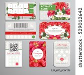 set of loyalty cards.... | Shutterstock .eps vector #529012642